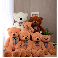 Wholesale Red Plush Teddy Bear - COLORS GIANT STUFFED PLUSH TOYS TEDDY BEAR 60 80 100 120 160 180 200cm Halloween Christmas gift Valentine's day birth gifts for children
