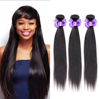Wholesale Cheap Real Remy Hair Extensions - 2017 NEW Straight Remy Hair 3Pcs lot 100% Real Virgin Brazilian indian Human Straight Hair Weaves Cheap Hair Extensions Fast Delivery