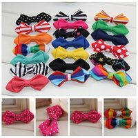 Wholesale Kids Safety Pins - Kids Tie Fashion Children Printing and Stripes Bow Tie Hot Boy Safety Clasp Pin and Pure Color Bow Tie