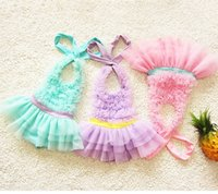 Wholesale 2016 NEW Kids Girls tulle Swimwear Suits Swimming Suit Hats baby Swimming trunks pieces Lace princess baby TUTU bow A