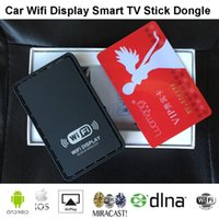 Wholesale Mirror Screen Tv - 2015 Car Wifi Display Smart TV Stick Dongle Wireless Screen Mirroring Airplay DLNA Miracast Dongle for Iphone Windows Android