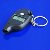 Manomètre Keychain gros-LCD Digital Tire Tyr Air Pour Auto Car Truck Motorcycle