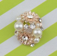 Wholesale x15mm Rhinestone Flatback Button For Hair Flower Wedding Invitation WY003