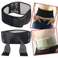Wholesale Heated Massage Belt - Yellow Back waist support Massage Belt self heating back belt Supporter Magnetic Therapy Belt Waist Lower Back brace Support Belt free DHL