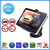 Wholesale Gps Navigator Touch Screen - Hot 7 inch Truck GPS Navigation HD Touch Screen WinCE 6.0 800MHZ FM RAM 256MB 8GB 3D IGO Primo Car Maps