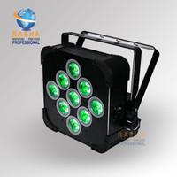 Wholesale Dmx Led Par Wireless - Rasha Hex 9pcs*15W 5in1 RGBAW LED Flat Par Can Light,Non Wireless LED Par Light,Disco DMX LED Flat Par Can