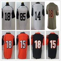 Wholesale Aj Green - 14 Andy Dalton 18 AJ Green Vapor Untouchable Limited jerseys 15 John Ross 85 Tyler Eifert Olive Salute To Service Limited Jersey