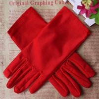 Wholesale Wedding Stretch Gloves - Wholesale-Hot Sale Evening Party Wedding Formal Prom Stretch Satin Gloves for Women