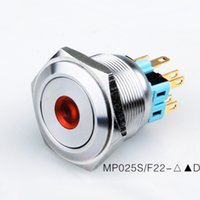 Wholesale Waterproof Push Button Switch Led - Angel Eye Metal Ring LED Vandal Proof Latching Push Button ,Car 12V waterproof IP67,Stainless Steel Housing momentarty on off 24v led switc