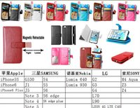 Wholesale Iphone Case Stand Snap - Multifunction Wallet Leather case Money Purse Photo 9 ID Card TPU Stand Pouch Snap fastener For iphone 6S 6 Plus 4.7 5.5 5 5G 5S Skin Luxury