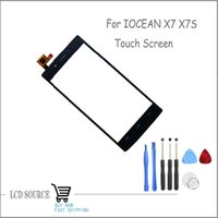 "Wholesale Iocean X7 Black - Wholesale-Best Price Original 5"" Touch Screen For IOCEAN X7 X7S Touch Digitizer Sensors Black Replacement Parts With Tools"
