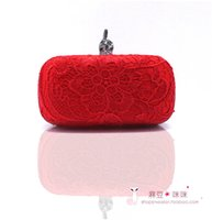 Wholesale Young Girls Stocking - Best Selling Wedding Bridal Hand Bags Lace Applique Free Shipping Grape  Black Red Handbags Young Girl Partyu Evneing In Stock SHJ