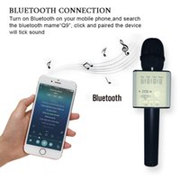 Professionelles Tragbares Mikrofon Kaufen -Q9 Handheld Mikrofon Wireless Professionelle Magie Karaoke Player mini bluetooth lautsprecher Tragbare Mikrofone Für Iphone Android Telefon