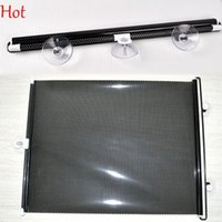 Wholesale Car Rear Window Sun Screens - Essential Black Side Car Sun Shade Rear Window Sunshade Cover Mesh Visor Shield Screen Sunshade Shield Visor Block With Suction Cups 4421