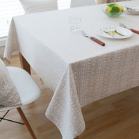 white linen table cloth Canada - Linen Table Cloth White Deer American Style Printed Christmas Tablecloth Nappe Table Cover Manteles Para Mesa Mesa Various sizes