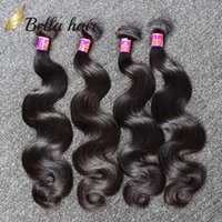 Wholesale Wholesale Malaysia Hair - Human Hair Weaves Brazilian Hair Bundles Extensions Body Wave Hair Weaves Weft Cheap Malaysia Peruvian Indian Double Weft 4PC 7A Bellahair