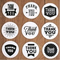 "Wholesale wedding thank stickers - Wholesale-Min Order is $5,(1 Lot=5 Sets=45 Pcs) DIY Scrapbooking Stickers Wedding Album Paper Decoration ""Thank You"" Sealing"