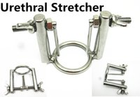 Wholesale Catheters Bondage - Stainless Steel Penis Urethral Stretcher Exploration Plugs BDSM Bondage Torture Gear Device Adult Sex Toys for Men SMGC-00456