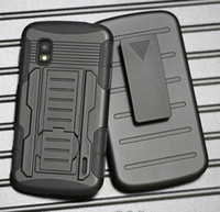 Wholesale Nexus Hybrid - Heavy Duty Future Armor Rugged Defender Holster Belt Clip Combo Hybrid Kickstand Case For LG Nexus 4 E960 Nexus 5 6 Skin Shockproof