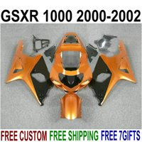 Wholesale gsxr plastics - ABS Fairings set for SUZUKI GSXR1000 K2 2000 2001 2002 black brown plastic fairing kit 00 01 02 GSXR 1000 V16S
