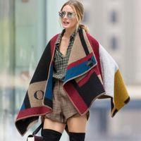 Wholesale Cashmere Scarves Match - Oversized 195*88cm OP cashmere scarf Fringed shawl blanket scarf coat lady woman fashion wool blend matching plaid shawl