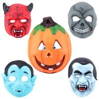 Wholesale Horn Cosplay - Halloween Party Cosplay Mask Pumpkin Zombie Vampire Ghost Ox Horn Full Face EVA New Mask Masquerade Dancing Costume Decoration 10pcs SD336