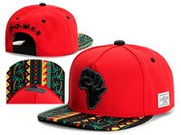 Wholesale Cap Republic - 2015 CAYLER & SONS Snapback POWER Africa Rot Baseball Cap Adjustable Snapbacks Baseball Cap Hats,Cheech Republic Caps, Sweet Sensi Hemp