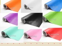 Wholesale Matte Vinyl For Car Wrapping - Various Satin Vinyl Wrap With Air release High quality for Car Wrap Covering Matte Film 14 color available size 1.52x30m   5x98ft roll