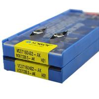 Wholesale Cnc Insert - 10pcs set CNC inserts blade VCGT160404 - AK h01 aluminum with KORLOY woodworking blades Free shippingq!qq