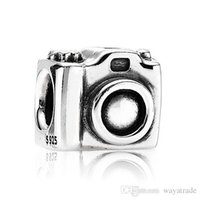 Wholesale Camera Charms Jewelry - New New Sale Wholesale Camera Charm 925 Silver European Charm Bead Compatible With Snake Chain Bracelet Fashion DIY Jewelry Free Shipping