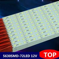 Wholesale 18w 72led - 5630SMD 72led m LED Bar Lights Warm white Cold white led bar strip light DC12V aluminium led bar light non-waterproof led Hard Strip