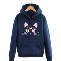 ingrosso luna marinaio costume-Kukucos Anime Sailor Moon Beauty Warrior Luna Cats Mese Hummer Jacket Plus Vaso di stile più spessa Hooded Cosplay Sweater