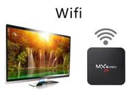 tv için hdmi medya çalar toptan satış-MXQ Pro 4 K Android 7.1 TV Kutusu Rockchip RK3229 Dört Çekirdekli 1 GB 8 GB Akıllı Akış Medya Oynatıcı desteği 3D IPTV HDMI Set ...