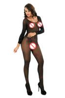 Long Sleeve Sexy Full Coverage Babydoll Bustier Bodysuit Lingerie BodyStocking Teddy Langerie Nightwear Hot Fishnet Bodysuit pjs
