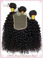 Wholesale Buy Cheap Human Hair - Buy Human Hair Extensions 6A Cheap Virgin Hair Weaves High Quality Curly Peruvian Hair India Hair Weave 3+1