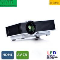 Mais novo 800 lumens UC40 LED Mini projetor de vídeo 3D portátil 1080p portátil 800 * 480 portátil Mini Theater levou projetor Pefect para Home theater
