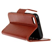 Wholesale Crazy Horse Leather Bags - For Samsung Galaxy J5 2016 J1 IPhone 5SE LG G5 Crazy Horse Wallet Leather Case Mad Stand ID Card Slot Bag Pouch TPU Money Folio Skin Fashion