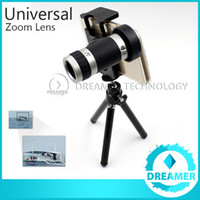 Wholesale Optical Telescope Mini - 1x 8x Zoom Telephoto Phone Lens For iPhone 6 6plus 5s 5 4s 4 Samsung S6 S5 Optical Telescope Camera Kit + Mini Tripod Fast Delivery Bestbuy