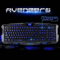 Wholesale Teclados Pc - Wholesale-3-Color Switch Backlight gamer teclados Wired Mechanical Feel Keyboard PC Computer Gaming lol dota Backlit Multimedia Keyboard