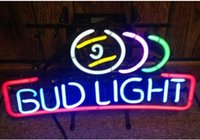 "Wholesale Neon Pool Balls - BUD LIGHT NEON BAR LIGHT pool ball BEER SIGN ADVERTISEMENT DECORATION REAL GLASS TUBE SIGN LIGHT 20""X13"""