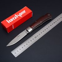 Wholesale Keychain Packaging - Kershaw 3180W Folding Knives Wood Handle Tactical Keychain Pocket Knife Utility Outdoor Gear With Retail Package Box D59L