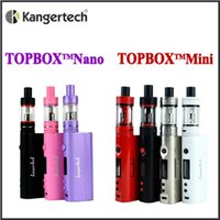 Wholesale Sub Gold - Kangertech topbox mini TC Kit 75w mod 4ml Top Filling Sub Ohm Kanger Topbox nano 60W TC kit with 3ml toptank nano DHL