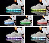 online shopping Usb Light Shoes - 7 Colors LED luminous shoes unisex led sneakers men & women sneakers USB charging light led shoes for adults led shoes