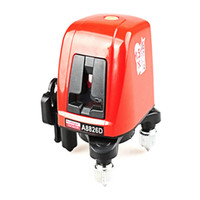 Freeshipping 360 degree self-leveling Portable mini Cross Red Laser Levels Meter 2 line 1 point 635nm Leveling Instrument