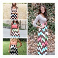 Wholesale Black Chevron Dress - Womens Dress 2015 Summer New Long Maxi Dress Hot Sale Vintage Vestidos De Festa Tank Chevron Curvy Bodycon Dress Free Shipping DS-240