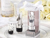 """Wholesale Chrome Pourer Bottle Stopper - Lowest Price in Aliexpress """"LOVE"""" Chrome Bottle Pourer Wine Stopper Good For Wedding Gift&Party Favors+100pcs lot+FREE SHIPPING 1202#02"""