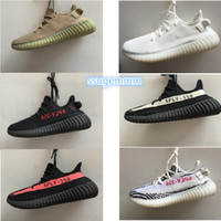 Wholesale Medium Size Gift Boxes - [no box]10 colors size 5-13 kanye west shoes SPLY 350 boost 350 v2 Beluga Glow In The Dark copper red Running Shoes with Gift