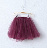 Wholesale Layered Autumn Clothes - spring now Princess Skirt Children Clothes Girls purple red multi-layered tutu Skirt kids sweet ALL Match skirt A5794