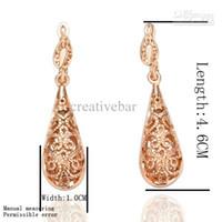 Wholesale Cheap Silver Hoop Earrings Wholesale - Cheap BOHO STYLE ornate FILIGREE drop EARRINGS gold silver Teardrop hoop cut out disc Fash Shipping
