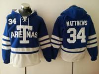 ingrosso felpa in foglia di acero di toronto-# 34 Auston Matthews Toronto Felpe con cappuccio Maple Leafs Mens 16 Mitchell Marner 29 William Nylander Felpa Pullover Hockey Ordine del mix